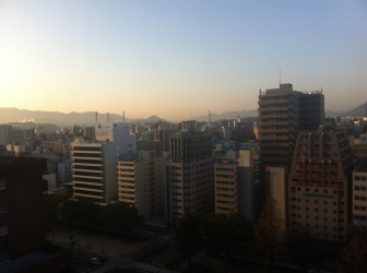 View of Hiroshima City from our hotel, the ANA Crowne Plaza.