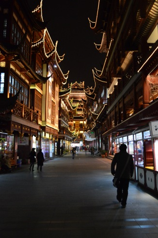 The streets of Yu Garden, which are surprisingly empty due to it being off-season for tourists.