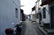 Residential area of Zhu Jia Jiao. It's rare to be somewhere that isn't crowded here in Shanghai.