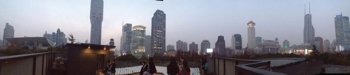 The view from MoCA's roof, accompanied with Kusama's outdoor piece.