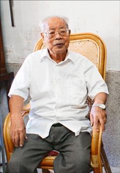 A-bomb survivor Chen Xin-ci (陳新賜)