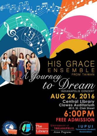 Poster design for His Grace Ensemble.